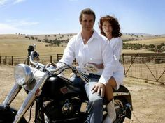 Stevie and Alex. McLeods Daughters, bike, great couple, great tv, show, photo