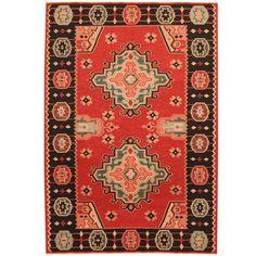 Herat Oriental Indo Hand-woven Tribal Vegetable Dye Wool Kilim (3'10 x 5'10)