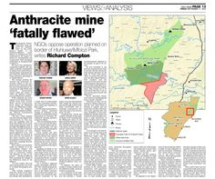 "This article was published in the Daily News on Friday, September 4, 2015. By Richard Compton THE proposed ""Fuleni"" anthracite mine targeted for establishment on the south-eastern border of ..."