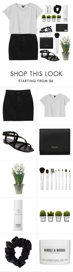 """""""CARRY ON"""" by sugarful ❤ liked on Polyvore featuring Monki, Manolo Blahnik, Yves Saint Laurent, BULB, Sonia Kashuk, Oskia, Billabong, American Apparel and Windle & Moodie"""