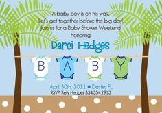 beach baby shower invite