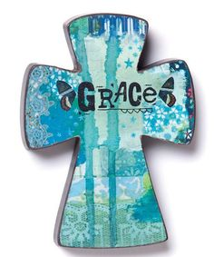Look at this #zulilyfind! 'Grace' Wood Cross Wall Art, $8 !!  #zulilyfinds