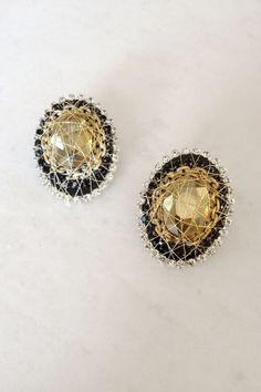 Citrine Edith Earrings on Emma Stine Limited