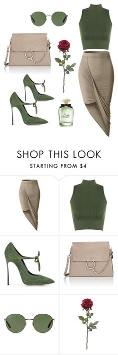 """""""<3"""" by jasemin2607 ❤ liked on Polyvore featuring LE3NO, WearAll, Casadei, Chloé, Ray-Ban, Dolce&Gabbana, woman and polyvorefashion"""