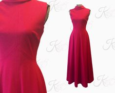 70s Vintage Maxi Dress Small Vintage Prom Dress by KayDoveVintage