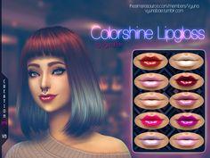 Colorshine Lipgloss by Vyuna at TSR • Sims 4 Updates
