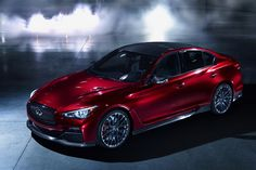 Infiniti unveiled the Eau Rouge concept car today, attempting to make a step towards competing with the BMW and Audi of. Infiniti Q50 Red Sport, 2015 Infiniti Q50, Nissan Infiniti, Infiniti G37s, Cadillac, Mercedes Benz, G37 Sedan, Toyota, Automobile