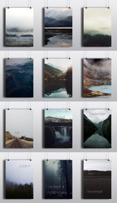 Perpetual Calendar - Poster Series by Arina Pozdnyak Perpetual Calendar. This poster series called Design Poster, Book Design, Design Art, Print Design, Poster Layout, Cover Design, Creative Design, Design Ideas, Typography Prints