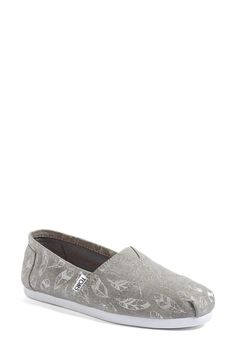 Toms Classic Feather Print Slip On Shoe