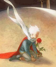 """-""""Te amo"""" - dijo el principito… -""""Yo también te quiero"""" - dijo la rosa. -""""No es lo mismo"""" - respondió él…  """"Querer es tomar posesión de algo, de alguien. Es buscar en los demás eso que llena las espectativas personales de afecto, de compañía… Amar es desear lo mejor para el otro, aún cuando tenga motivaciones muy distintas. Amar es permitir que seas feliz, aún cuando tu camino sea diferente al mío."""