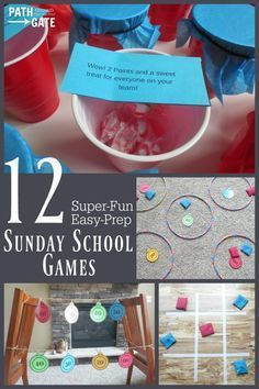 If you teach Sunday School, you need Sunday school games that your kids will love. Here are 12 Super-fun, Easy-prep Sunday School games your students will love! Sunday School Activities, Church Activities, Sunday School Crafts, School Fun, Middle School, High School, Kids Sunday School Lessons, Bible Activities For Kids, Youth Group Activities