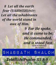 HalleluYAHWEH for emeth! Shabbath Shalom
