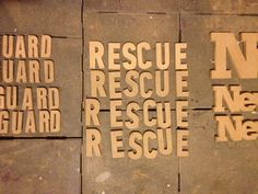 +Rescue +Lifeguard @byEssay - Work in Progres #wip #diy #handmade #customised #eigentijds #font #fonts #hout #wood #bruin #brown #lifeguard #rescue  #redcross #scratch #signaal #rood #stoer #vintage #webshop #woonaccessoires #woondecoratie #woonkamer #wood #interieur #interior #typography