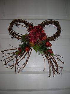 SALE   Holiday  Christmas Winter Vine Wreath