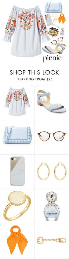 """""""Picnic"""" by wannabedesignee ❤ liked on Polyvore featuring Free People, Steve Madden, MICHAEL Michael Kors, Ray-Ban, Native Union, Isabel Marant, Marc Jacobs, Louis Vuitton and Gucci"""