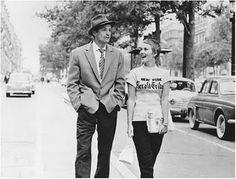 Breathless/Jan-Luc Godard (1960): Jean Seberg / Jean-Paul Belmondo
