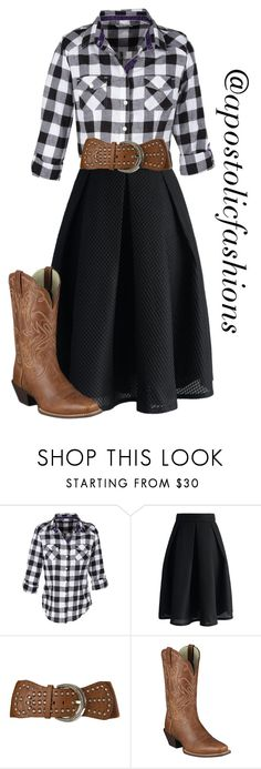 """""""Apostolic Fashions #1381"""" by apostolicfashions ❤ liked on Polyvore featuring Chicwish, Angel Ranch, Ariat, modestlykay and modestlywhit"""
