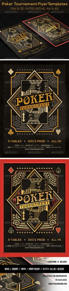 Cool Poker Magazine Ad, Poster or Flyer PSD Template • Only available here ➝ http://graphicriver.net/item/poker-magazine-ad-poster-or-flyer-flat-3d/6238434?ref=pxcr