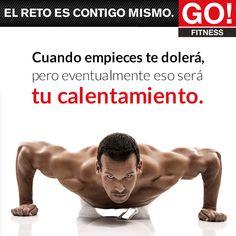 Cuando empieces te dolerá... #gofitness #clasesgo #ejercicio #gym #fit #fuerza #flexibilidad #reto #motivate Go Fitness, Strong, Wrestling, Sports, Flexibility, Strength, Motivational Quotes, Lucha Libre, Hs Sports