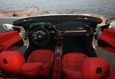 AAA Luxury Ferrari 458 Italia Spider interior