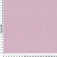 Absolutely Asprin White Dot Light Pink Cotton Fabric