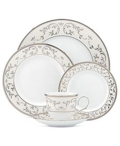 Lenox Dinnerware, Opal Innocence Silver 5 Piece Place Setting