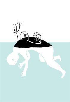 Illustration.- Living island  http://rubenchumillasillustration.blogspot.com.es/