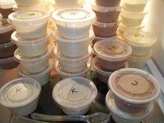 Butterscotch, Choco-Raspberry, Cherry Cheesecake, Pina Colada pudding-shot-recipes