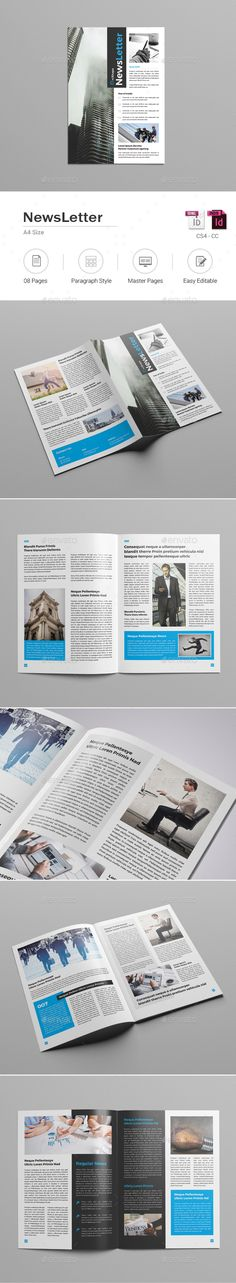 Newsletter Corporate 12 Pages Print templates, Newsletter - company newsletter template free