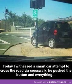Car crossing the street