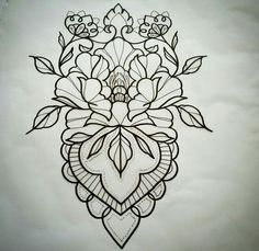 Leaves incorporated into design. Mandala Tattoo Design, Mandala Arm Tattoo, Tattoo Designs, Tattoo Motive, Tattoo Sketches, Tattoo Drawings, Body Art Tattoos, New Tattoos, Backpiece Tattoo