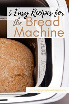 You can make the most delicious bread using your bread machine. Start with these 5 yummy and healthy bread machine recipes everyone will love! Breadmaker Bread Recipes, Bread Machine Recipes Healthy, Healthy Homemade Bread, Bread Maker Recipes, Easy Bread Recipes, Keto Bread, Cheese Recipes, Recipe For Bread Making Machine, Best Bread Machine