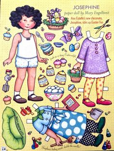 Mary Engelbreit Mag Paper Doll Josephine April May 2005 Uncut | eBay