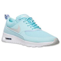 Women's Nike Air Max Thea Running Shoes| FinishLine.com | Glacier Ice/Light Base Grey/Purple Fade