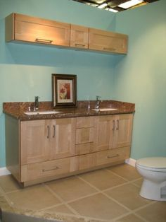Shaker Style Natural Maple Vanity. European Kitchen CabinetsBathroom ...
