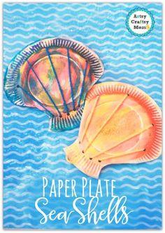 Make super cute Paper Plate seashell craft for kids - step by step tutorial  tags - paper plate craft , toddler crafts, Kindergarten craft , ocean study, clams, Ocean crafts , beach party, Ocean week