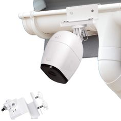 Wasserstein Weatherproof Gutter Mount Compatible with Arlo Pro, Arlo Pro and Arlo HD - Greater Height for Your Arlo Cameras (White, Parent) - Great Security Product for Your Business Wireless Home Security Systems, Security Alarm, Arlo Camera, Outdoor Camera, Perfect Angle, Surveillance System, Security Cameras For Home, Wall Mount, Strong