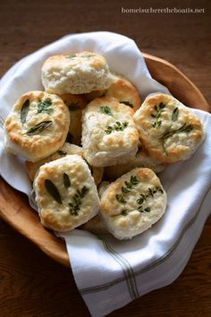 Parsley, Sage, Rosemary and Thyme laminated biscuits...