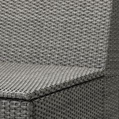 SOLLERÖN One-seat section, outdoor, dark gray - IKEA Modular Corner Sofa, Modular Sofa, Ikea Usa, Outdoor Lounge Furniture, Outdoor Sofas, Outdoor Seating, Polypropylene Plastic, Garden Sofa, Dark Grey