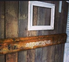 Pallet sign asparagus rustic kitchen decor by SawmillCreations, $34.00
