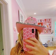 Cute Preppy Outfits, Preppy Girl, Preppy Style, Pink Cowboy Hat, Cowgirl Hats, Preppy Phone Case, Cute Cases, Pink Aesthetic, Just In Case