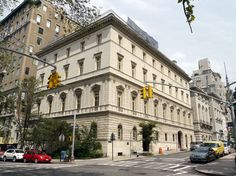 The Renaissance palazzo built in 1914-1918 for Wall Street financier Otto Kahn, on the northeast side of East 91st Street and Fifth Avenue