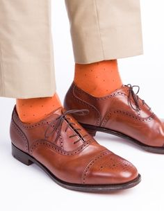 0ea3f53b52f Dapper Classics Burnt Orange with Brown Pin-Dot Fine Merino Wool Sock. jojo  toon · men fashion · Mens Opera Pumps Gentleman Shoes ...