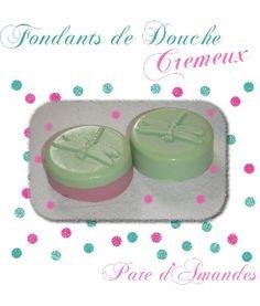 Fondants de Douche Crémeux au Lait d'Amandes... Un super site qui me donne une grosse envie de retourner à mes tambouilles !!! Envie d'un bon fondant de douche !!