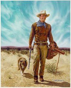 Portrait Painting - John Wayne Hondo by Dick Bobnick John Wayne Quotes, John Wayne Movies, Westerns, Cowboy Pictures, Cowboy Pics, Cowboy Images, Rustic Pictures, Saloon, Actor John