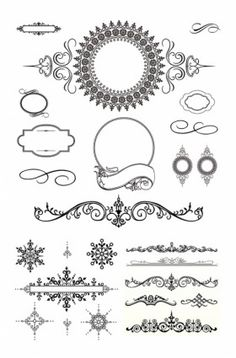 Decorative frames vintage style vector | Free Stock Vector Art ...