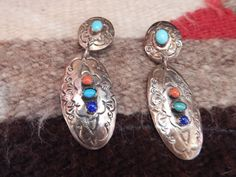 2long  clip sterling turquoise Native by LittleCherokeeValley