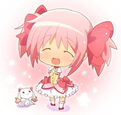 anime traditional girl | Another chibi arts from futuristik, this time is chibi Madoka Magica ...