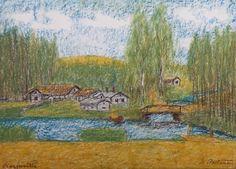 Kalle Aaltonen. Karjusilta. Väriliitu paperille. Painting, Art, Art Background, Painting Art, Kunst, Paintings, Performing Arts, Painted Canvas, Drawings