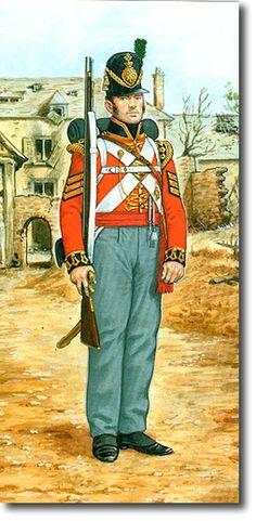 The First Regiment of Foot Guards SARGENTO DE LA COMPAÑIA LIGERA- 1815. Más en www.elgrancapitan.org/foro